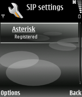 E70 Registered with Asterisk